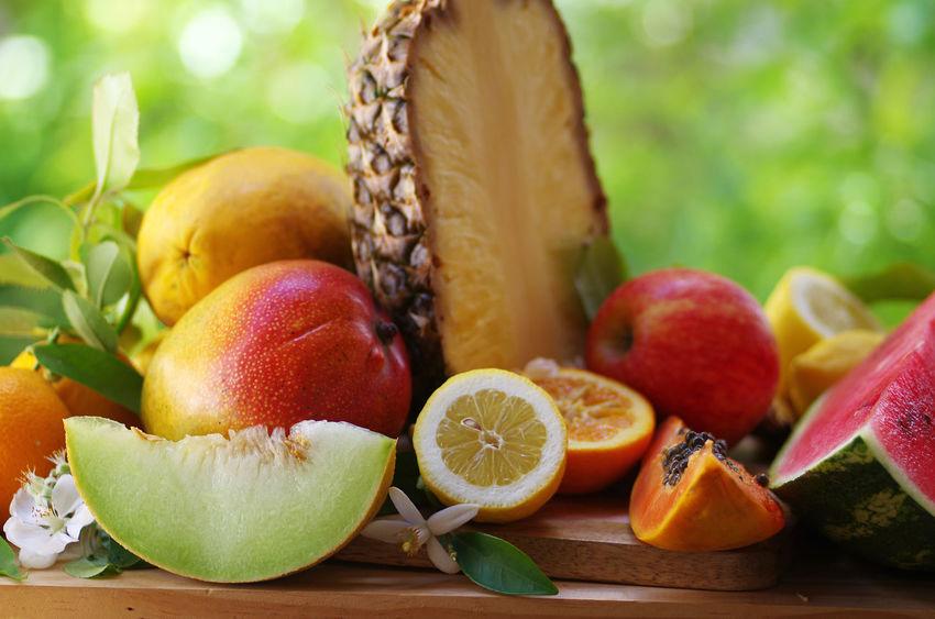 tropical fruits papaya, pineapple, lime melon, mango on wooden table Mango Apple - Fruit Citrus Fruit Close-up Food Food And Drink Freshness Fruit Healthy Eating Lemon Orange Orange - Fruit Orange Color Papaya Ripe SLICE Table