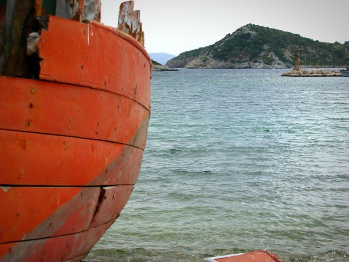 Bay Trawler Abandoned Boat Red Boat Abandoned Boat Old Boat Gulf Sea Seascape Rocks Alonnisos Island Greek Islands Breakwater Rocks And Sea Tranquil Scene Fine Art Photography Shades Of Blue Shades Of Red Beach Beach Photography Colour Of Life Hidden Gems  Live For The Story The Great Outdoors - 2017 EyeEm Awards