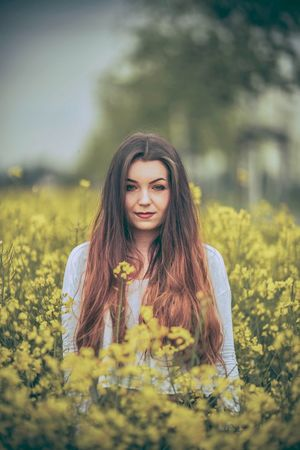 Flower Young Women Young Adult Nature Long Hair Yellow Field Beauty In Nature Lifestyles Beauty Plant Outdoors Springtime Photo Portrait Photoshop The Portraitist - 2017 EyeEm Awards Photoart Outdoor Photography Photographer Photo Of The Day Photoshoot Summer Girls Photooftheday
