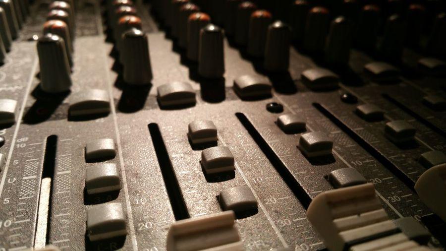 Full frame shot of mixing keyboard