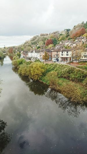 River Severn Reflection Water Cloud - Sky Ironbridge Gorge Autumn Colors Autumn Wharfage