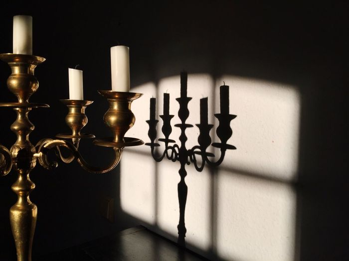 Candles Candles Sunlight Shadows