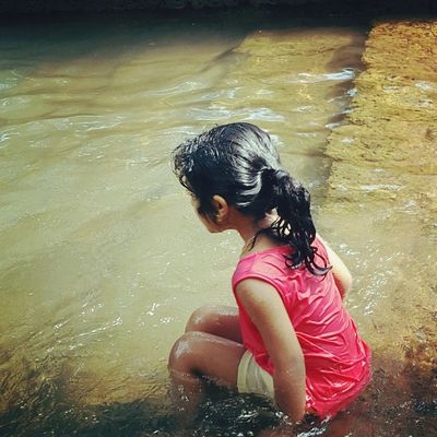 The Week On EyeEm One Girl Only Child Children Only One Person Girls Water Childhood Swimming Outdoors Nature Day