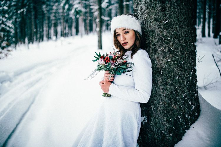 Snow bride 2 Wedding Dress Bunch Of Flowers Hide EyeEm Best Shots EyeEm Best Pics Wedding Photography EyeEm Flower EyeEmBestPics Wedding Bride Winter Cold Temperature One Person Snow Plant Nature Lifestyles Young Adult Women Clothing Tree Young Women Portrait Real People Warm Clothing Females Outdoors Beautiful Woman Snowing My Best Photo
