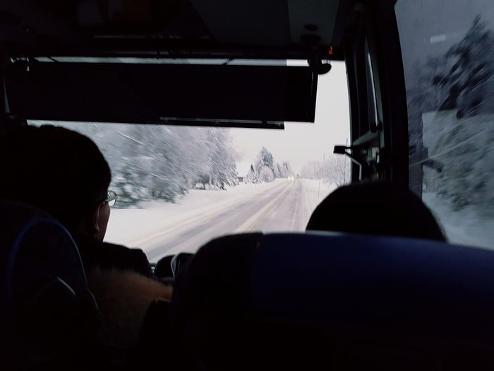Travel Silhouette Land Vehicle Bus Samsungphotography Finland Kittilä Transportation Vehicle Interior Light And Shadow Enjoy The New Normal December2016 Samsung Galaxy S7 Snow Covered Couples