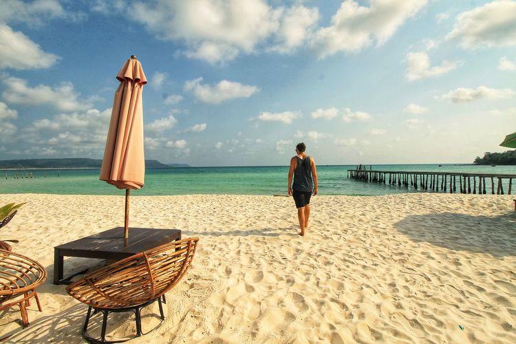 Enjoying the summer in soksan beach koh rong island despite the covid-19 pandemic