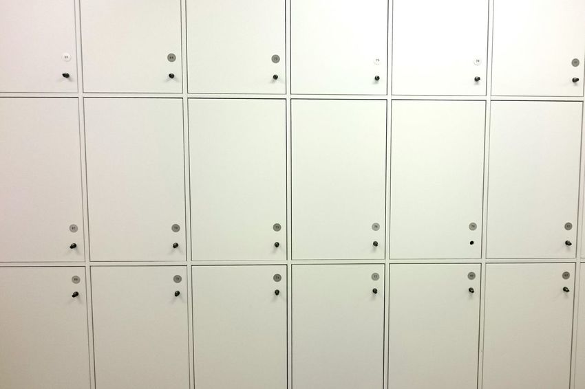 In A Row Copy Space Macro Striped Backgrounds Indoors  Pattern Full Frame Locker Industry Textured  Locker Room No People Neat Close-up Day