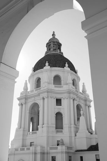 City Hall Dome Architecture Arch Religion Travel Destinations Building Exterior Sky History City Spirituality Place Of Worship Pasadena City Hall Blackandwhitephotography Retro Styled Straightfromcamera Fujifilm_xseries Blackandwhite Mediterranean  Architectural Column Framed By Nature LA Nights No People Outdoors Cultures Day