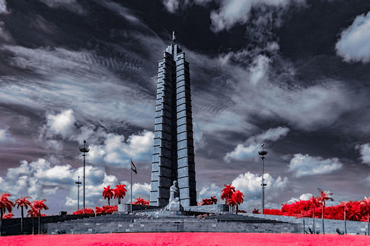 José Martí Memorial @ Revolution Square, Havana, Cuba 🇨🇺 [IR] Architecture Check This Out Cuba Exceptional Photographs EyeEm Best Shots Hanging Out Havana Hello World Memorial Relaxing Taking Photos Tree Built Structure City Cloud - Sky Day Enjoying Life First Eyeem Photo History Landscape Outdoors People Sky Skyporn Tower