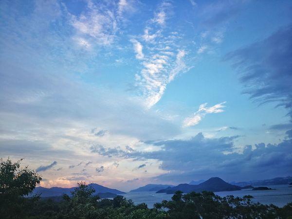 西貢大網仔 亞公灣 Mountain Cloud - Sky Landscape Nature Photography Natural Beauty Mountain View Cloudy Hong Kong Clouds And Sky Huaweiphotography Huawei Leica Mate 9 HongKong Smartphonegraphy Huawei Photography Seaview