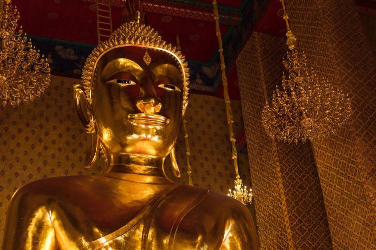 Wat Kanlayanamit วัดกัลยานิมิตร Statue Sculpture Human Representation Religion Thailand Buddha Statue Buddha