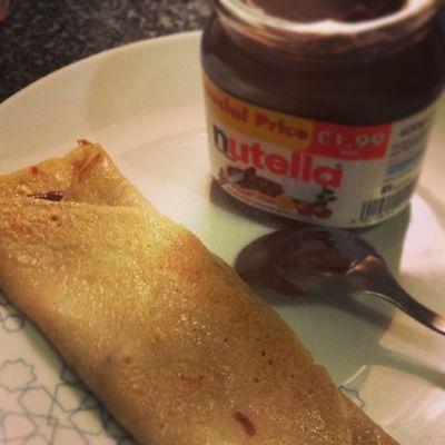 32/100 100happydays Pancakeday Nutella Yum