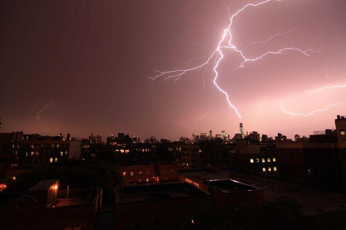 Lighting Storm/pre 4th of July fireworks, July 3, 2014 Lightning Eastvillage East Village NYC