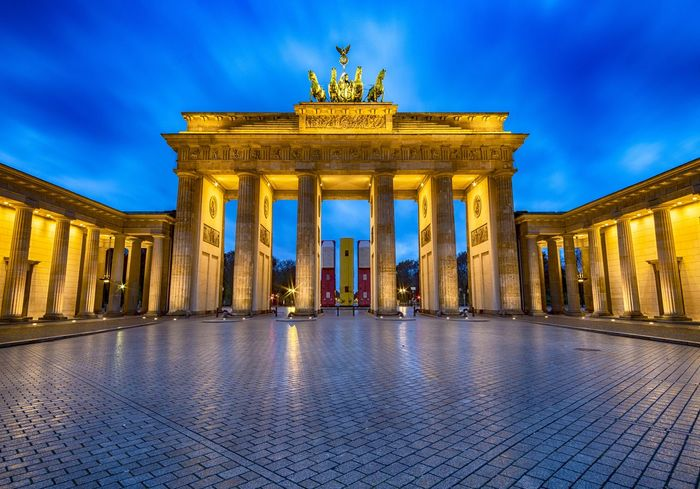 Brandenburg Gate at 7 a.m. The only time to see this place without people. Berlin Brandenburg Gate Architectural Column Architecture Brandenburger Tor City City Gate Cloud - Sky Gate Germany History Illuminated Night No People Pariser Platz Sky Tourism Town Square Travel Travel Destinations