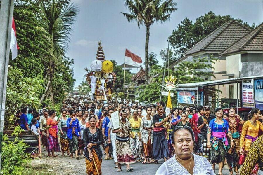 Bali Ngaben Ceremony at Br Bedha Bongan Tabanan Bali, Indonesia