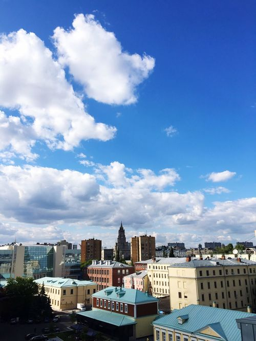 Moscow Life Moscow City View  Cityscapes City Life Cityscape City Blue Sky Architecture View Russia City Views My Sky No People Business Office Building Modern Outdoors Development Built Structure Building Exterior Building Exterior Sky Sky And Clouds