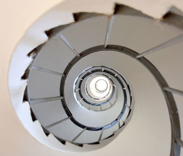 Architecture Built Structure Ceiling Circle Close-up Day Design Diminishing Perspective Directly Below Geometric Shape High Angle View Indoors  No People Pattern Railing Shape Spiral Spiral Staircase Staircase Steps And Staircases