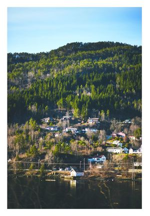 Architecture Building Exterior Built Structure Cityscape Day Harbor House Mountain Nature Nautical Vessel No People Norway Outdoors Sky Tree Water