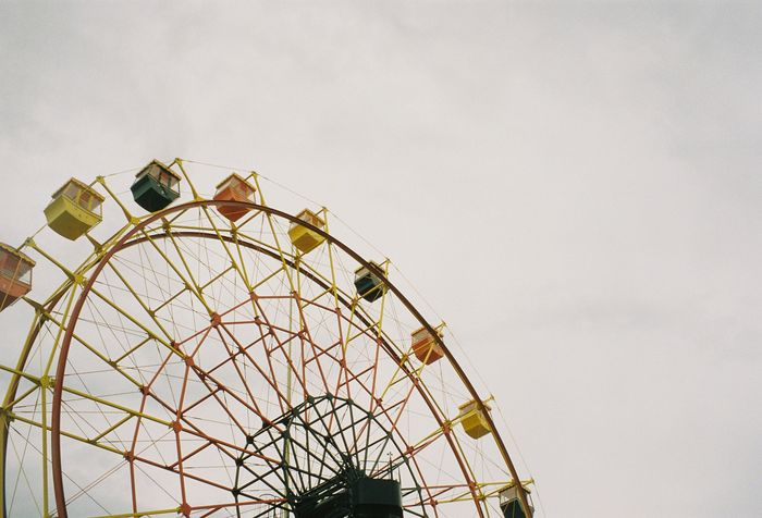 Ferris wheel 観覧車 Copy Space Architecture Leisure Activity Day Outdoors Built Structure Enjoyment No People Low Angle View Sky Carnival Arts Culture And Entertainment Ferris Wheel Amusement Park Ride Amusement Park EyeEm Selects 観覧車 千葉 Filmphotography Lomography フィルム写真 ロモグラフィ 空