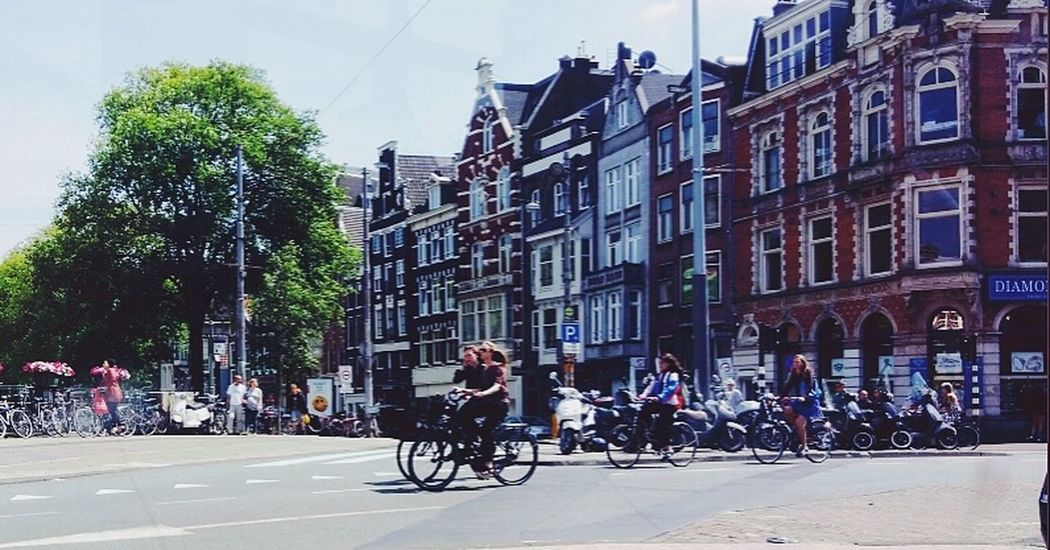 Window Tree Bicycle City Real People Architecture Building Exterior Outdoors Built Structure People Adult Men Young Adult Adults Only Sky Day Amsterdam City Amsterdam