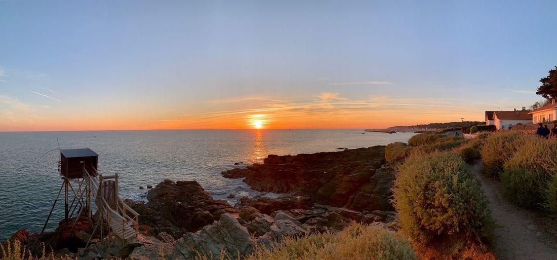 Sea Water Sky Sunset Horizon Over Water Scenics - Nature Beauty In Nature Tranquil Scene