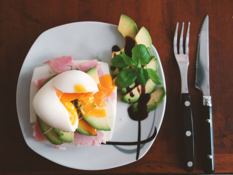 Weekend mornings are the best Breakfast Directly Above Eating Utensil Egg Egg Yolk Food Food And Drink Fork Freshness Fried Egg Healthy Eating High Angle View Household Equipment Indoors  Kitchen Utensil Knife Meal No People Plate Ready-to-eat Still Life Table Table Knife Temptation Wellbeing