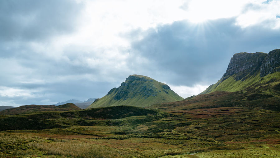 Lovely colours of Quiraing. don't forget to follow http://www.instagram.com/simonmigaj Skye Quiraing Isle Of Skye Mountain Mountains Green Peak Travel Travel Destinations Adventure Scotland Mountain Scenics Landscape Cloud - Sky Social Issues Nature Beauty In Nature Travel Destinations Outdoors No People Day Sky