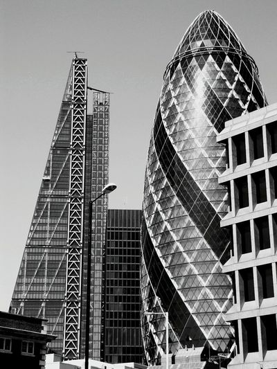 London City B&w Urban Geometry