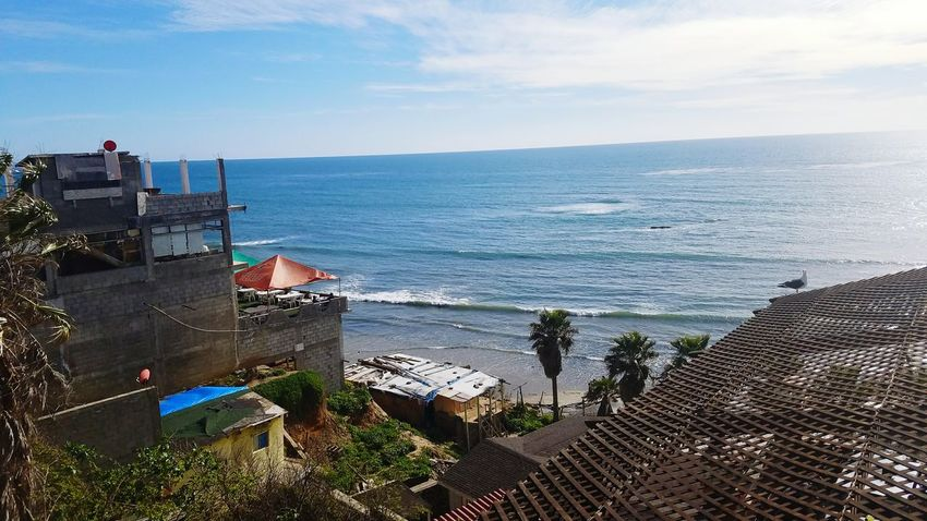 Mexico Mexico Coast Coastline High Angle View Sky City Sea Across The Border Outdoors Day Puerto Nuevo Daytrip No People