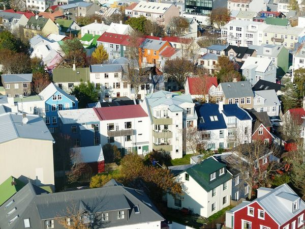 Building Exterior Outdoors Iceland_collection Day Architecture Multicolor Reykavik City Aerial View Houses Roofs