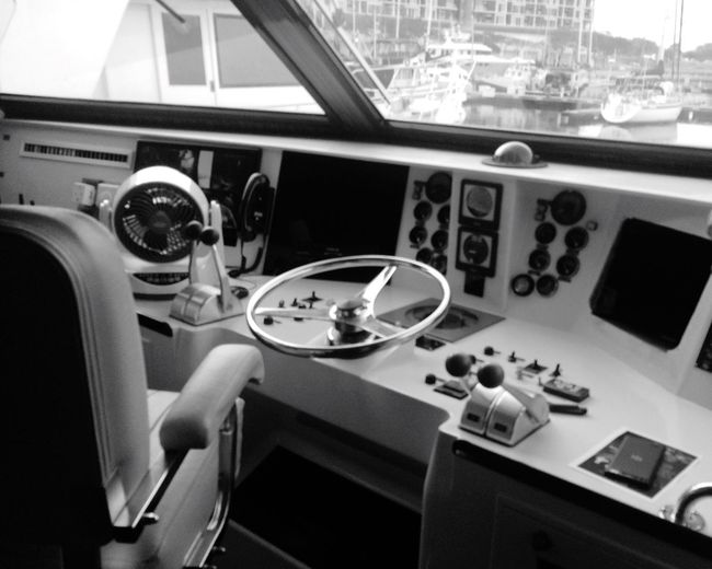 Control panel of boat
