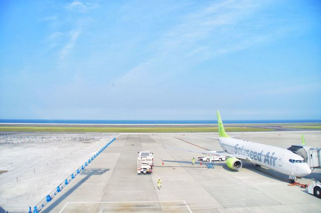 Airport Airplane Sky Sea Blue Oita,japan Traveling Horizon Horizon Over Water Feel The Journey Colour Of Life