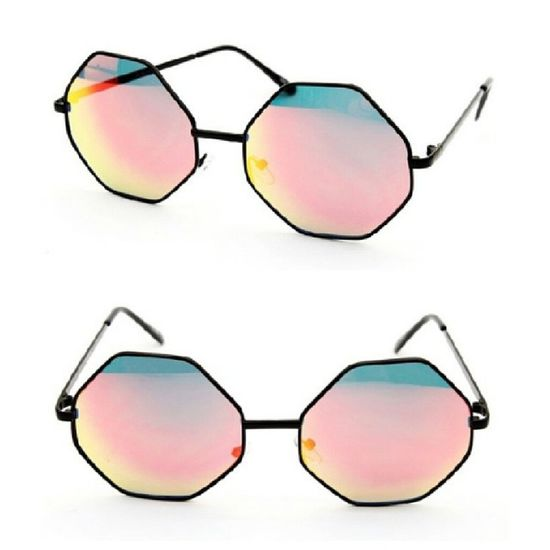 Octagon Red & Gold Tinted Shades AccessoriesJunkie Shedidthat FashionistaProblems