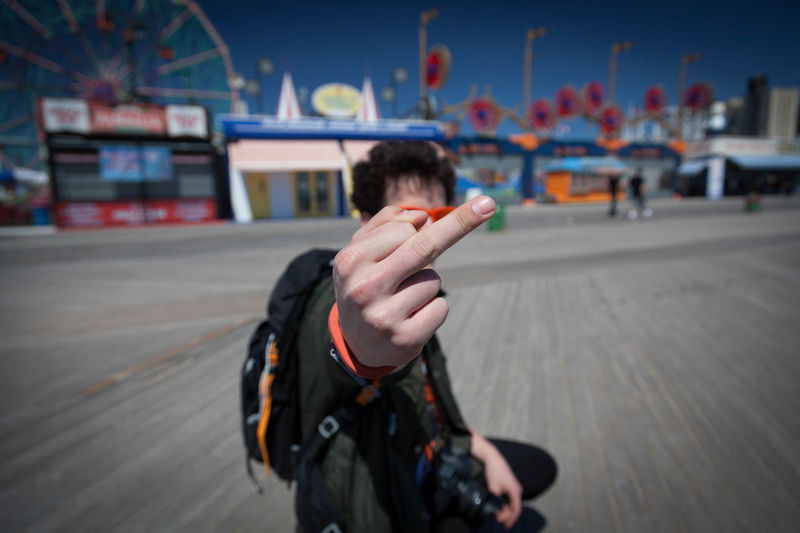 Just Kidding, Love you <3 Beach Blur City Coney Island FuckYou New York Selective Focus Showcase June Sun