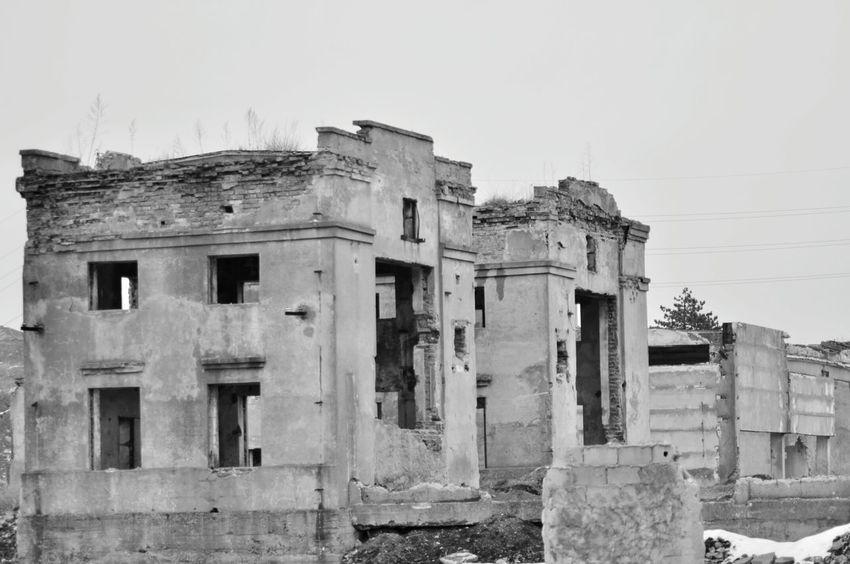 Abandoned Factory Black & White Black And White
