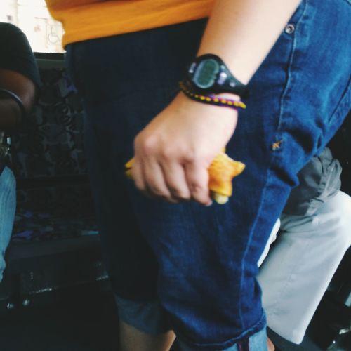 Half eaten banana on PAT Pittsburgh PAT Bus On The Bus Bus