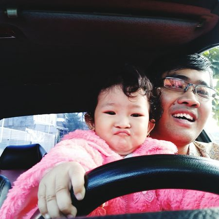 Car Beby Girl Pink Color Lips Father & Son SuperGirl! ✌ My Love