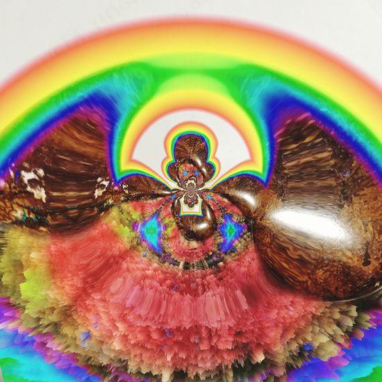 Detail shot of rainbow