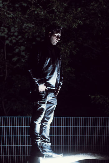 Casual Clothing Darkness And Light Fashion Full Length Leisure Activity Lifestyles Light And Shadow Nature Night One Person Outdoors People Real People Standing Young Adult Capture Tomorrow