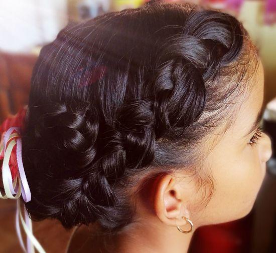 Younggirls EyeEmNewHere Braid Hairs Hairstyle Flowergirl Beauty Headshot