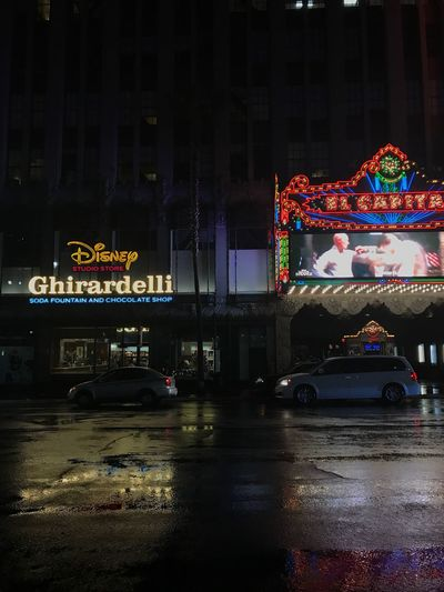 Night Illuminated Building Exterior Travel Destinations City Street