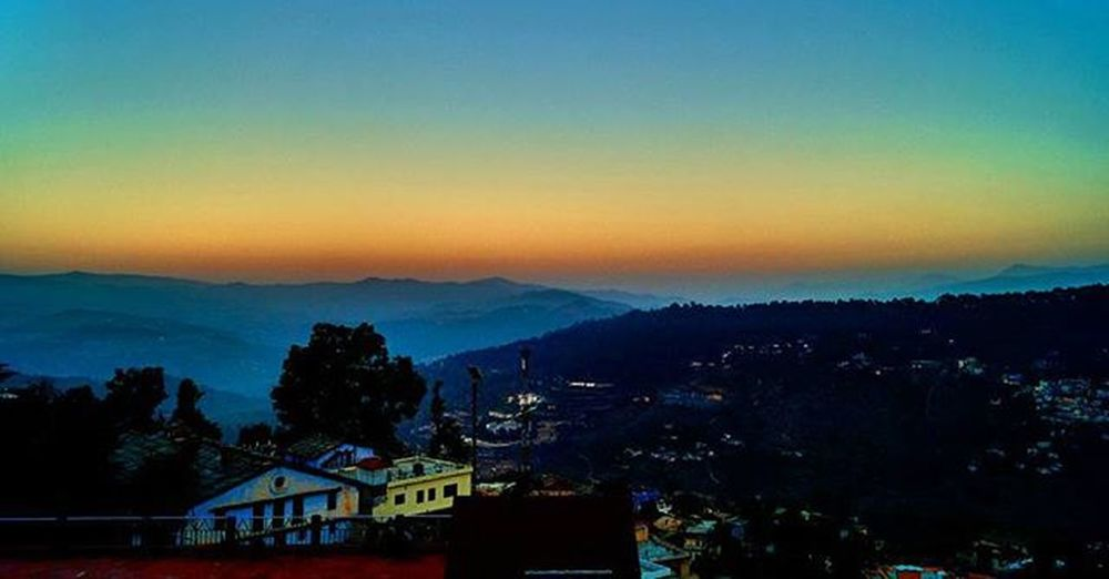 Beautiful shades of sky after sunset Captured_By_Me Landscape Nature Sunset Colorful Mountains Beautiful Shades Colors Amazing Sonyimages Sonyalpha A58