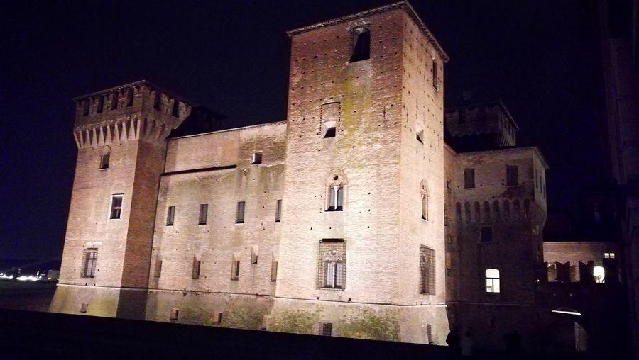 Mantova Mantova City Italy Night Castle Castello Gonzaga Medieval Architecture