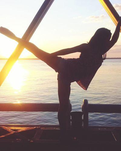 Dance 😍💃 Sunset Silhouette First Eyeem Photo