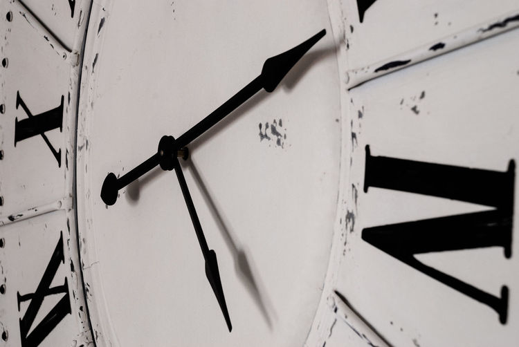 its all about time Nikon Backgrounds Black Color Clock Clock Face Close-up Communication Full Frame Hour Hand Indoors  Instrument Of Time Low Angle View Macro Minute Hand Nikonphotography No People Number Photography Roman Roman Numeral Text Time Wall - Building Feature Wall Clock White Color