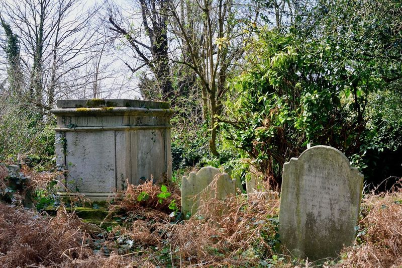 Gravestone and Tomb Hampstead London Gravestone Stone Churchyard Tombstone Death Christianity Traditional Old English Graveyard Creepy Horror Cemetery Tomb