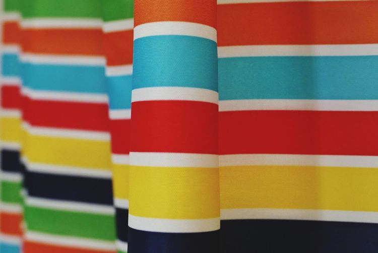 Full frame shot of colorful curtain
