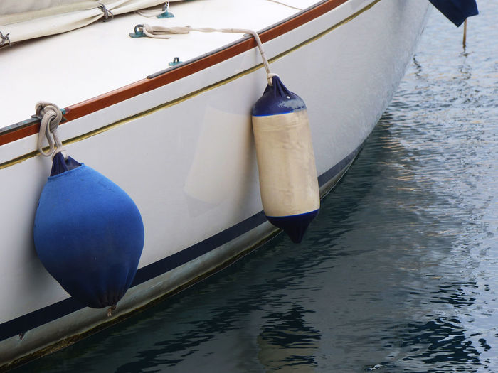 Close-up of a cropped boat in water