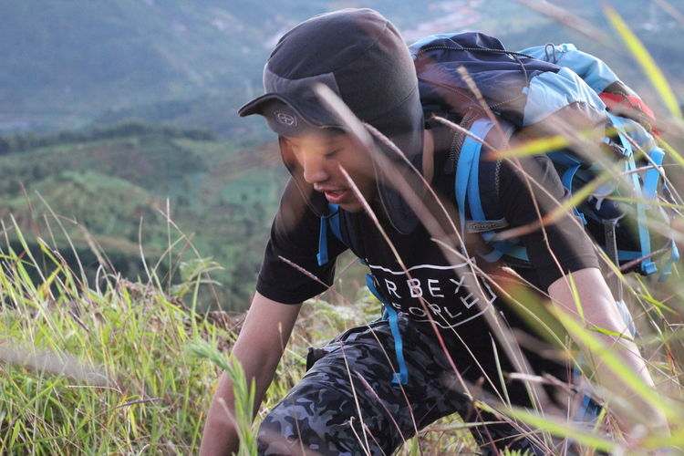 Tracking .. Headshot Outdoors Sports Clothing Nature Close-up Mountain View Adventure