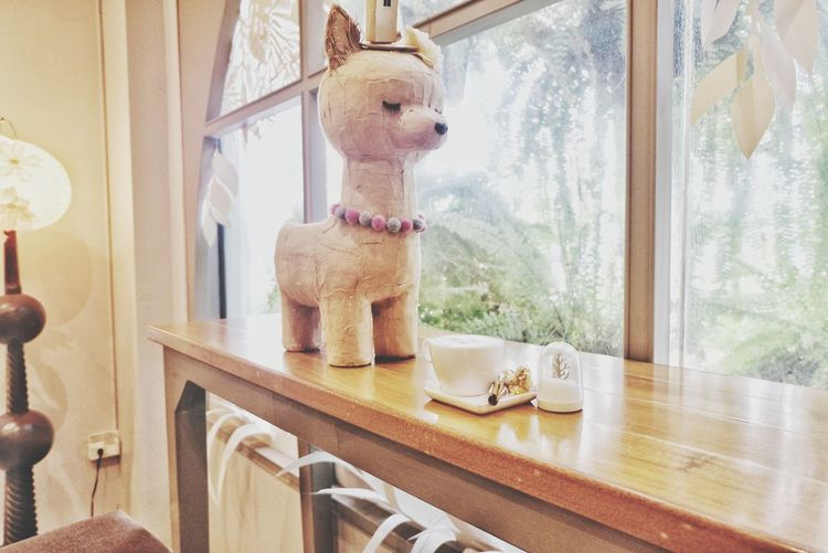 cafe coffee shop Love Lovely Alpaca Papermache Coffee Coffee Shop Interior Beautiful Background Relaxing Space Design Drink Window Nature Window Home Interior Statue Sculpture Toy Animal